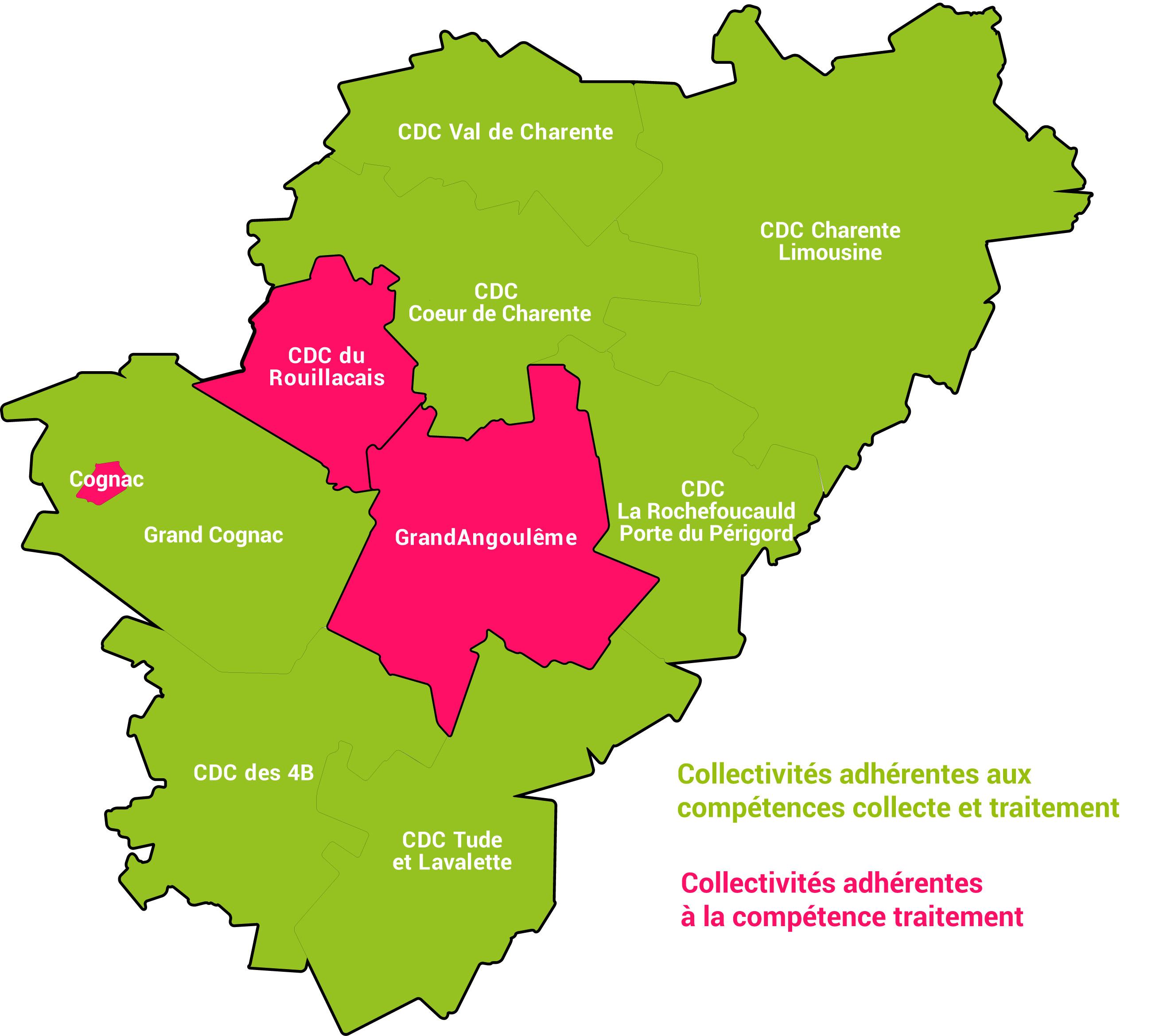 carte des collectivites adherentes