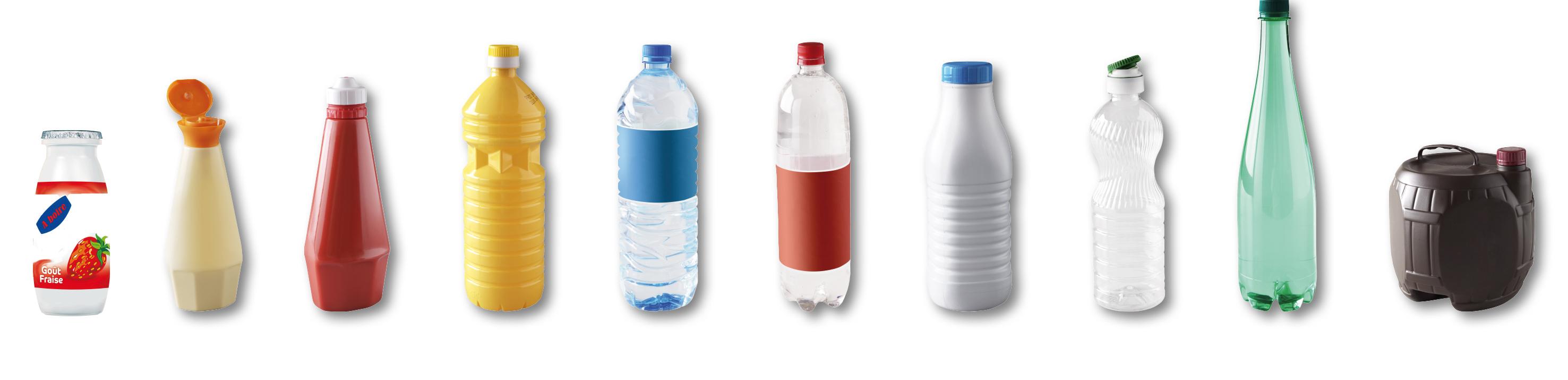 Bouteilles d'eau jus de fruits soda