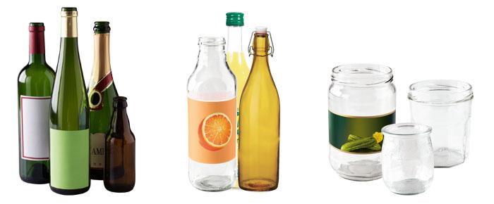 Bouteilles, pots et bocaux en verre