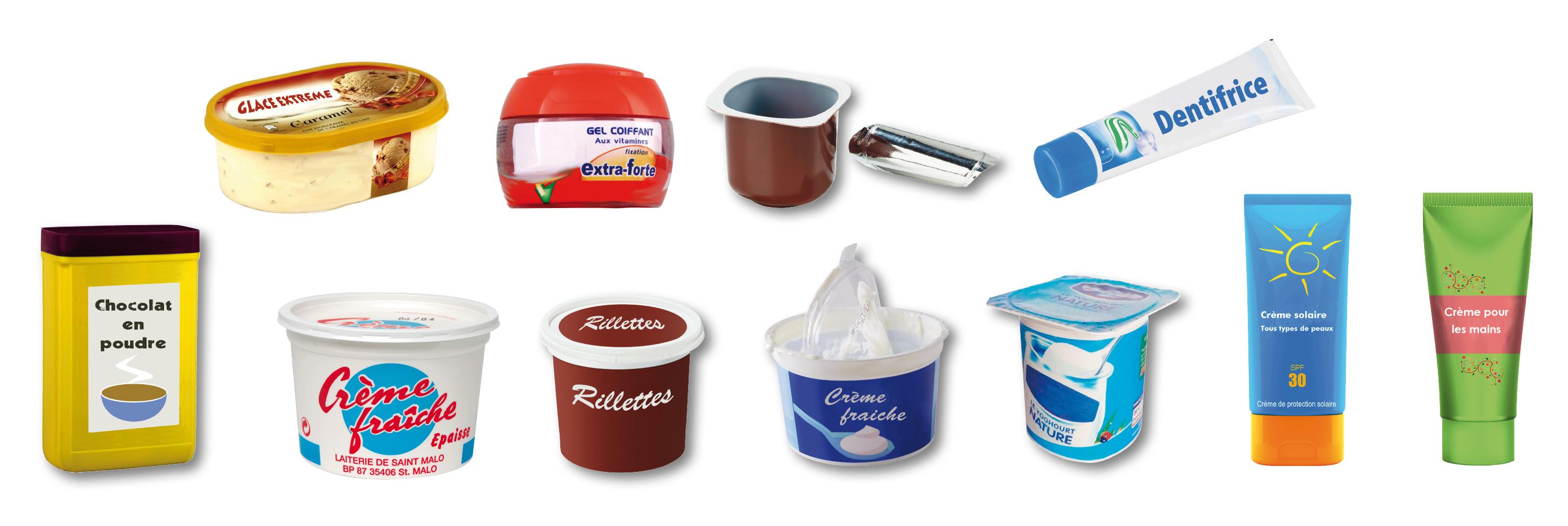 Pots et boîtes plastique