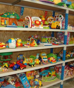 Rayon de jouets de la Boutique Calitom